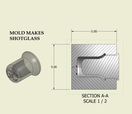 Frozen Shot Glass Mold