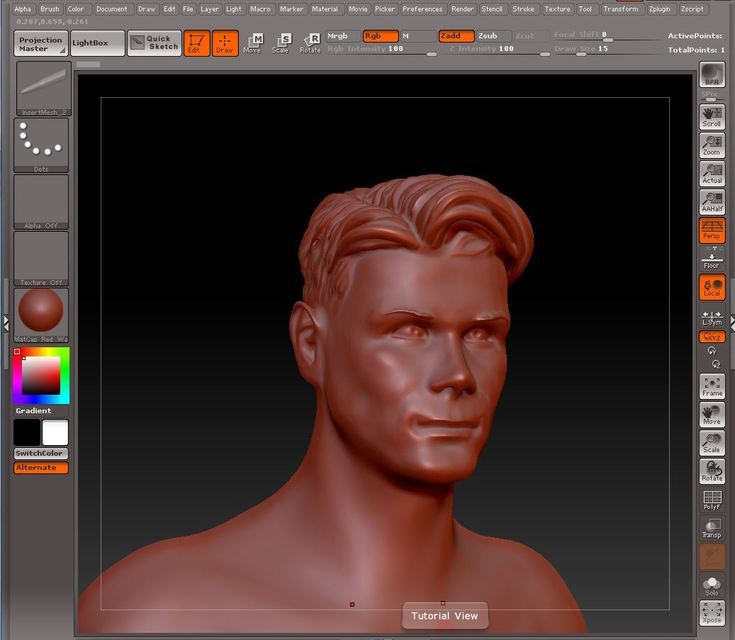 Male head zbrush | 3D CAD Model Library | GrabCAD