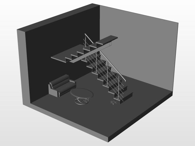 Infill Railing Design | 3D CAD Model Library | GrabCAD