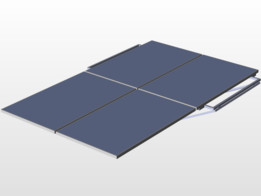 estructura de paneles solares para techo