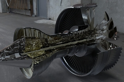 Trent 1000 Engine for KeyShot 3D Rendering Competition