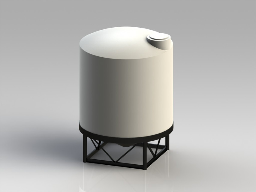 3000 Gallon Poly Tank | 3D CAD Model Library | GrabCAD