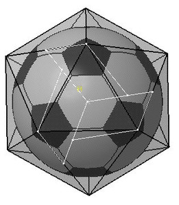 Soccer Ball Secret (Icosahedron to Goldberg Solid)