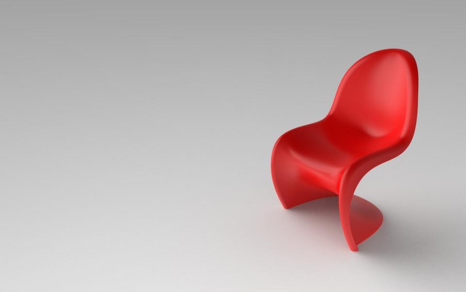 Panton Chair   Verner Panton | 3D CAD Model Library | GrabCAD