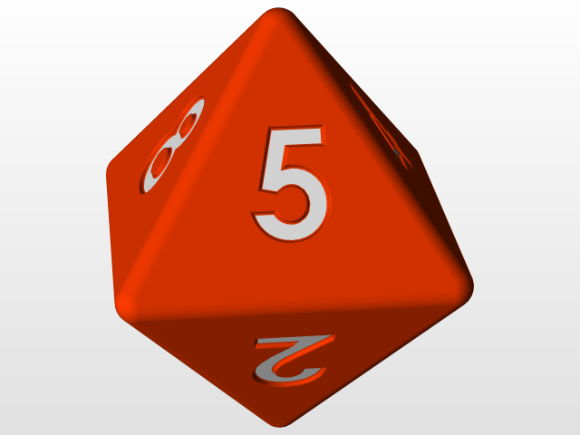 8-sided DnD dice d8 (STL and SLDPRT) | 3D CAD Model Library