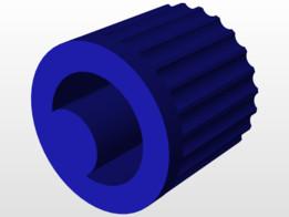 Qosina 12674 Non-Vented Male Luer Lock Cap, Blue