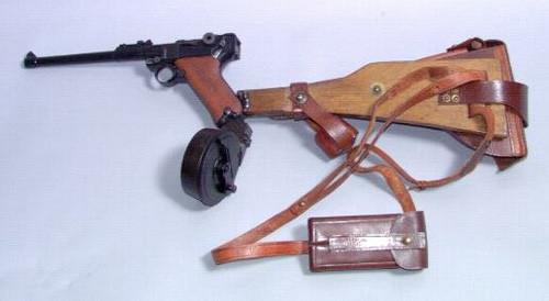 Luger P08 Lange (long) (1913) | 3D CAD Model Library