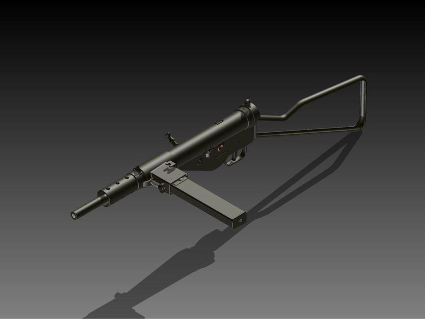 Sten MK II   3D CAD Model Library   GrabCAD