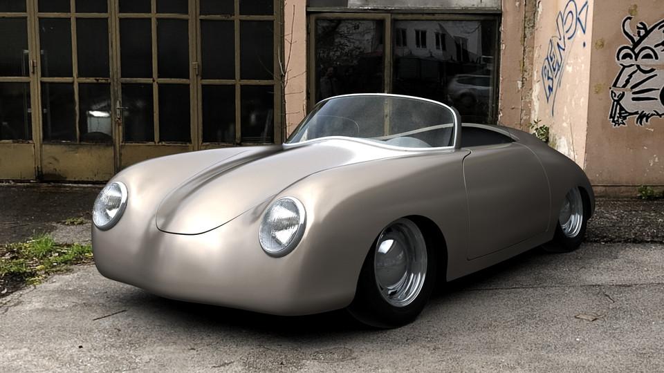 Porsche 356 Speedster Solidworks 3d Cad Model Grabcad