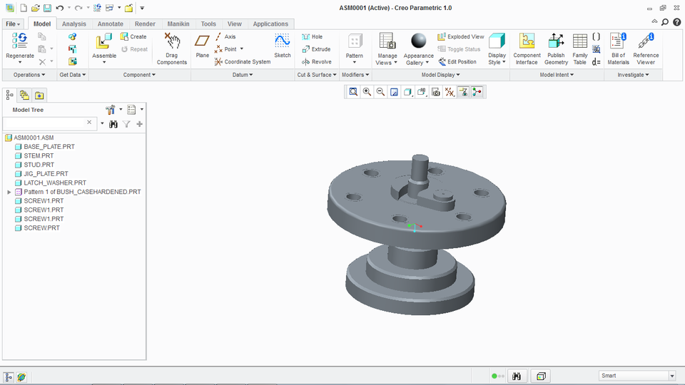Drill Jig Assembly - PTC Creo Parametric - 3D CAD model - GrabCAD