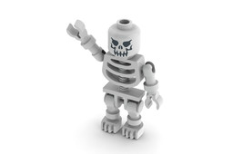Lego Evil Skeleton Minifigure 2007-now