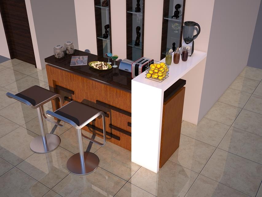Mini Table (bar) Simple | 3D CAD Model Library | GrabCAD