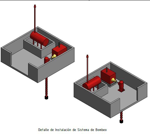 Vertical Turbine Fire Pump with Diesel Motor | 3D CAD Model