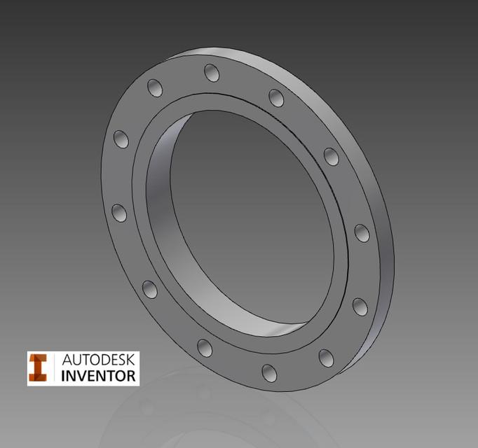 Flange, Slip on, Class 150, ANSI B16 5 | 3D CAD Model