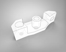 Extruder ball bearings holder
