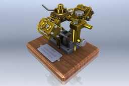 Model V Twin Steam Engine (German)