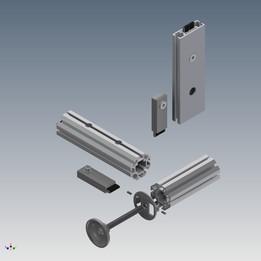 Modular aluminium octogonal profile system