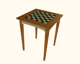 Checkers and chess table