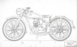 Russian motocycle M1A
