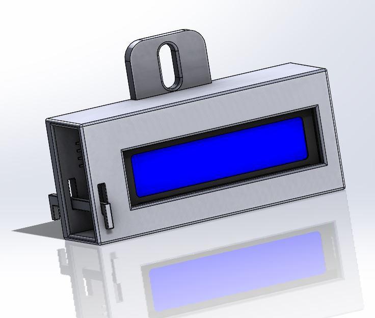 Arduino LCD I2c 16X2 Holder | 3D CAD Model Library | GrabCAD