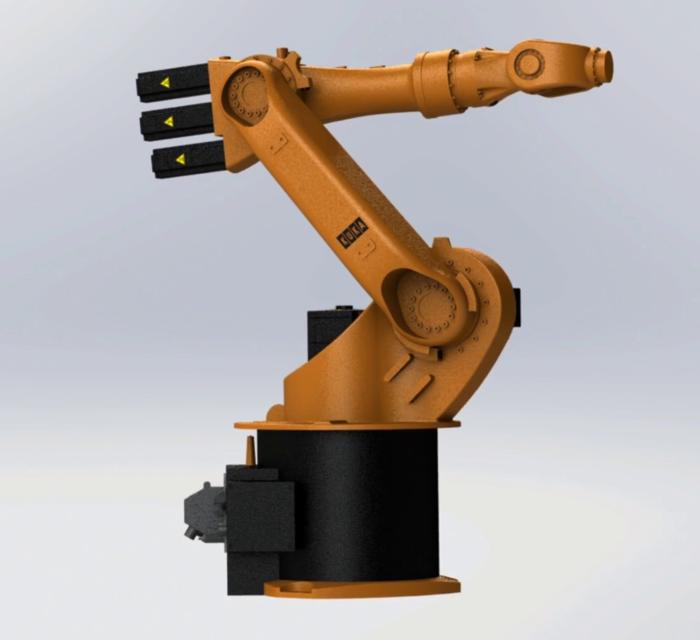 kuka kr16 industrial robotic arm | 3D CAD Model Library