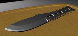 FKT EDC Drop Point Neck Knife