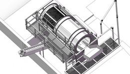 Concrete reclaimer and screw conveyor