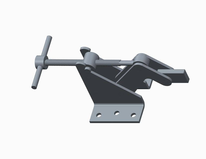 Quick Acting Hold Down Clamp | 3D CAD Model Library | GrabCAD