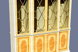traditional breakfront glazed cabinet
