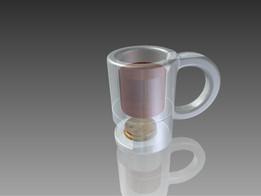 'Smart' 3D printable coffee mug