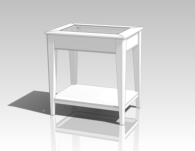 Ikea liatorp side table stl solidworks 3d cad model - Table liatorp ikea ...