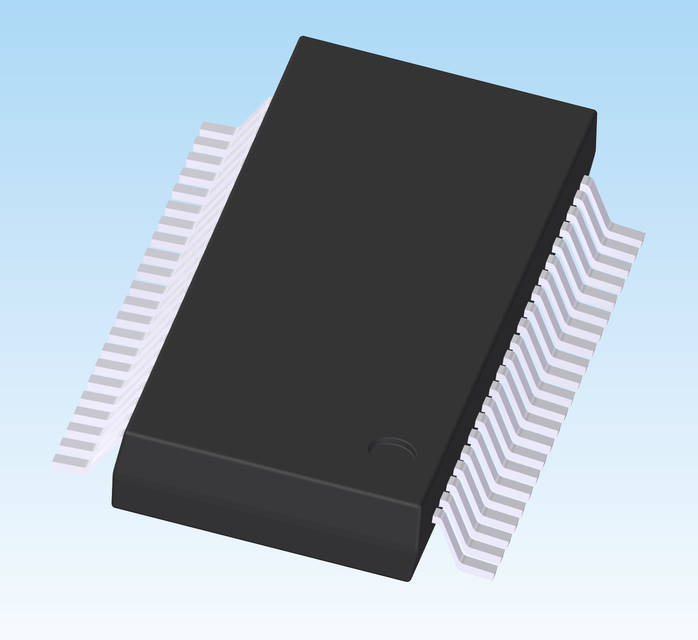 44 Pin SSOP Chip Package | 3D CAD Model Library | GrabCAD