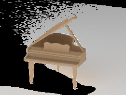Grand Piano Wooden Toy
