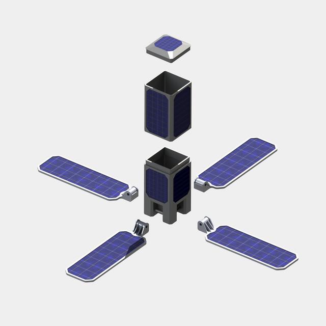 CubeSat Jonathan Stokes | 3D CAD Model Library | GrabCAD