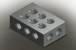 1 2 3 BLOCK WITH 1/2 - 13 THREADED HOLES