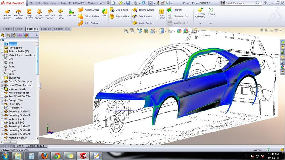 Tutorial Car Design Camaro Body Design 3d Cad Model