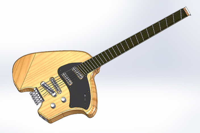 homemade guitar solidworks 3d cad model grabcad. Black Bedroom Furniture Sets. Home Design Ideas