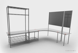 chrome wire system - office furniture