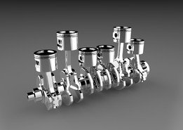 Crankshaft and Piston Assembly