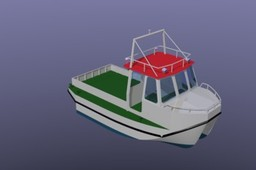 Harbor catamaran workboat
