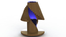 Fantasia babele wooden lamp