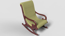 Rocking chair(leather upholstery)