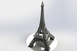 The Eiffel Tower, Sheetmetal puzzle, 3d puzzle, metalcraftdesign