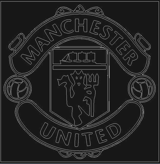 dxf from jpg manchester united logo 3d cad model library grabcad dxf from jpg manchester united logo
