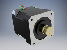 STEPPER MOTOR NEMA 17 with Timing Pulley 18 teeth
