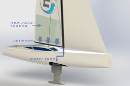 Freshwater creek for sailing yachts