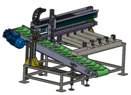 Automatic colored baseballs separator machine
