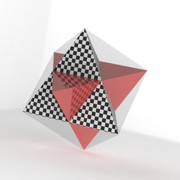 Double Tetrahedron in a aircube