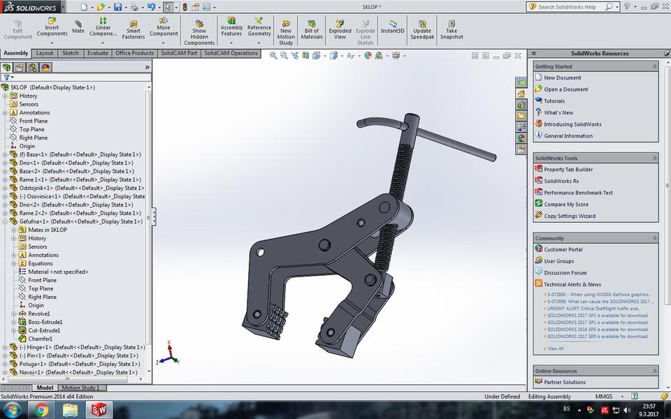 Manual Clamp | 3D CAD Model Library | GrabCAD