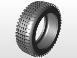 M tyre with treads
